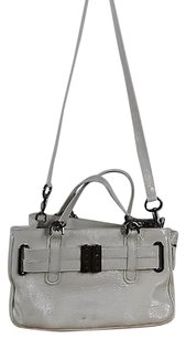 Other Anne Klein Ny Womens Solid Patent Handbag Satchel in White