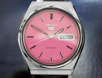 Other Seiko Mens Automatic Watch With Pink Dial 1970s Made In Japan Td611