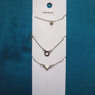 set of 3 silver necklaces