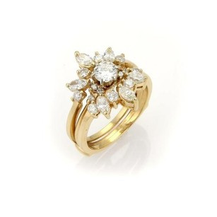 Other Set Of Round Marquise Solitaire Insert Diamond Ring -