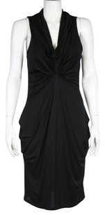 Other Co Op Womens Casual Sleeveless Mid Calf Silk Sheath Dress