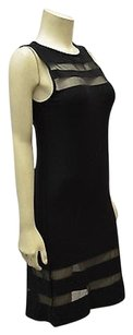 Other Body Fit Solid Mesh Detail Stretch Fit Sheath 130843tf Dress