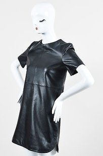 short dress Black Maison Pere Leather on Tradesy