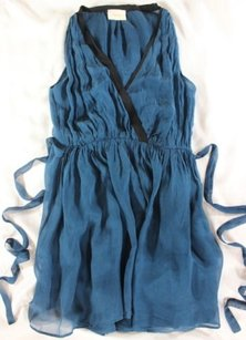 short dress Peacock Blue Luxe Giada Forte Silk Chiffon on Tradesy
