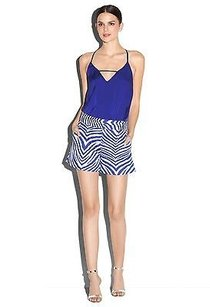 Milly Zebra Side Pocket Shorts Multi-Color