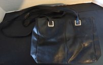 Black Genuine Leather Purse Shoulder Bag