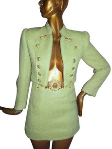 Other Albert Makali Vintage Green Wool 2pc Jacket Skirt Suit Usa