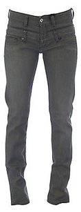 Other Blue Blood Womens Dark Grey Bartlett Double Waist Classic Rise Denim Skinny Jeans