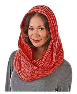 Other Sociology Red Cable Knit Chunky Infinityscarf One 220927rm