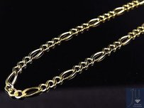 Other Solid 10k Yellow Gold 2.5mm Figaro Chain Necklace Lobster Clasp 16-26 Inches