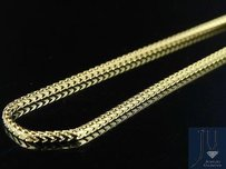 Solid 10k Yellow Gold Franco Box Link Chain Necklace 1.5 Mm 16-30 Inches