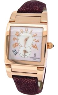 Solid 18k Rose Gold De Grisogono Instrumento Uno Df N11 Dual Time Date Mop