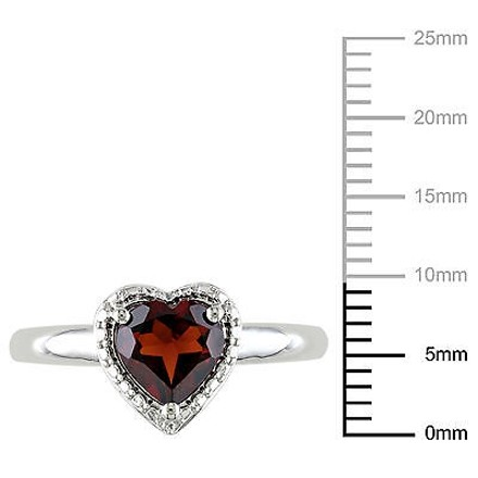 Other 1 38 Ct Tgw Garnet Heart Love Fashion Ring In Sterling Silver