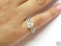 Fine Marquise Engagement Diamond Ring Yg 14kt 1.06ct