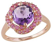 Ping Sterling Silver 1 78 Ct Tgw Amethyst Created Pink Sapphire Ring
