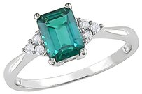 10k White Gold 110 Ct Diamond Tw And 78 Ct Tgw Emerald Fashion Ring Gh I2i3