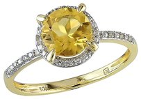 10k Yellow Gold Citrine And Diamond Accent Ring 1 14ct Tgw