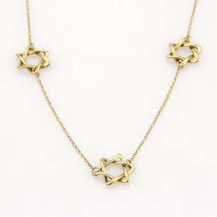 Star Of David 18k Yellow Gold Charm Necklace