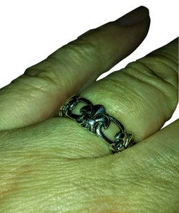 Other Sterling Silver Eternity Fleur de Lis Ring