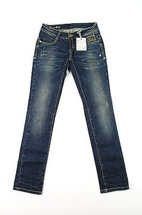 By Carlo Chionna Womens Straight Leg Jeans