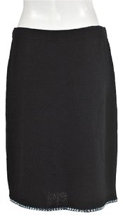 Other St John Evening Marie Gray Womens Straight Wool Skirt Black