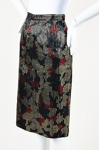 Vintage Valentino Night Black Skirt Multi-Color