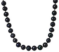 Other Amour 10mm Black Licorice Freshwater Pearl Necklace 18 Inch Long Fashion Strand