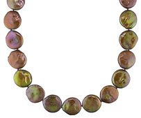 Sterling Silver Freshwater Brown Pearl Strand Necklace 16.5-17 Mm 18 Amour