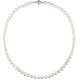 Other 7-7.5 Mm White Cultured Freshwater Potato Pearl Strand Necklace 18 Inch