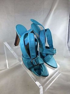 Boccaccini Leather Turquoise Pumps