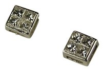 Other Mens Lady Princess Cut Diamond Stud Earrings .30 Ct