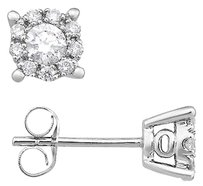 Other 14k White Gold Diamond Stud Earrings 0.5 Cttw G-h I1-i2
