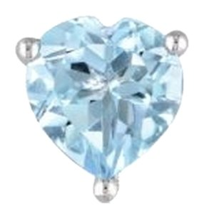 Sterling Silver Blue Topaz Heart Love Stud Earrings 2 Ct Tgw