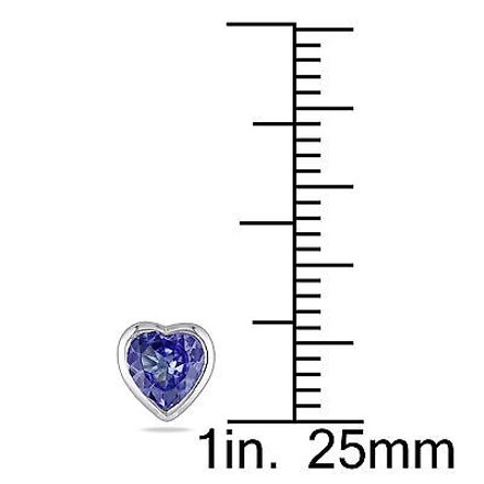 Other 10k White Gold 45 Ct Tanzanite Heart Love Stud Earrings