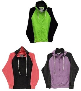 Other Pacific Zip Up French Terry Pink Lime 2000451rm Sweatshirt