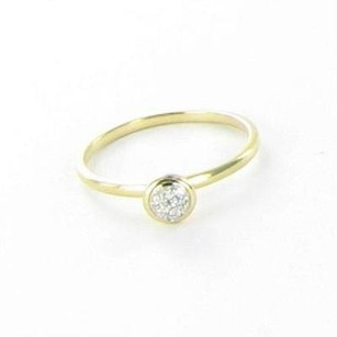 Syna Baubles Ring Mini Stacking Diamond 18k Yellow Gold