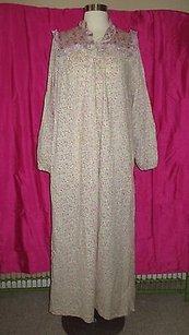Tactix By Hukapoo Zip-front Cotton-poly Vintage Nightgown Robe Granny P