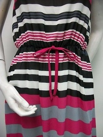 Angel Eye Multi-color Horizontal Stripe Scoop Neck Dress J06149 #17951569 - Casual Dresses (Short) 85%OFF