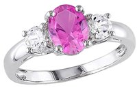 2 58 Ct Tgw Pink And White Sapphire Fashion Ring In Sterling Silver