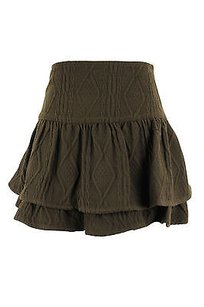 Fix Design Geometric Womens Skirt brown
