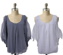 Other Current Affair Shelly Flowy Sheer Overlay Party Var Top