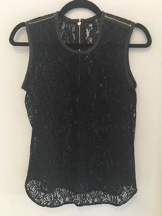 Other Seven For Mankind Lace With Zipper Detail Top Black