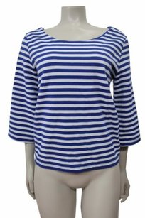Stcl Postmark Anthropologie Top blue white
