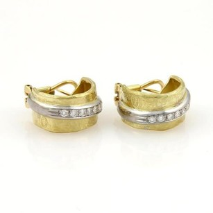 Torrini Nancy Diamond Wide 18k Gold Hoop Earrings