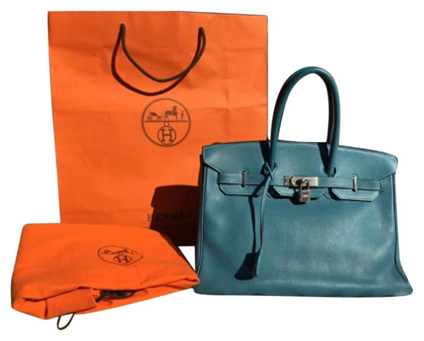 Hermes birkin 35 cm togo leather bag
