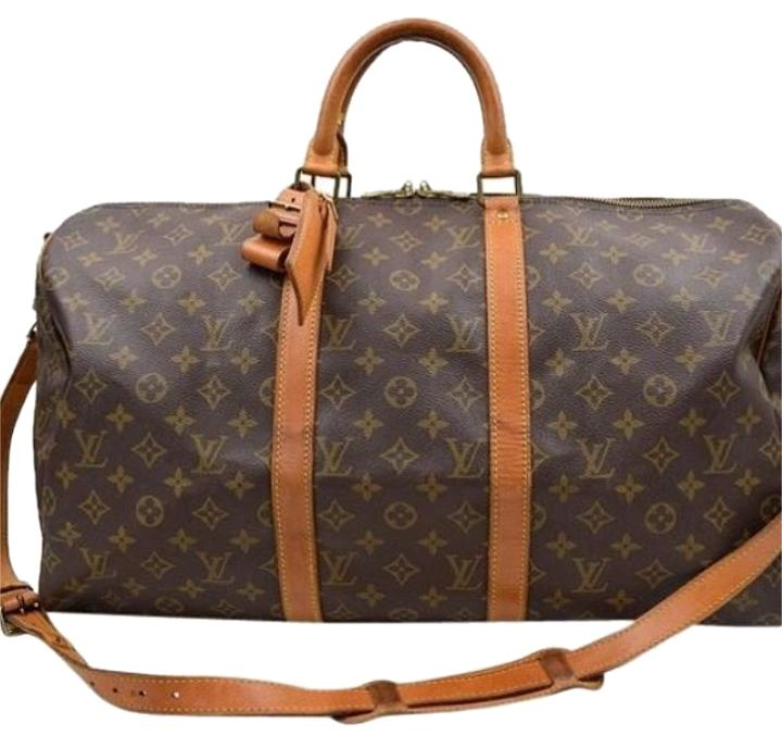 Louis Vuitton Monogram Keepall Banouliere 50 Boston Travel Bag