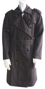 Schon Wool Knit Double Trench Coat