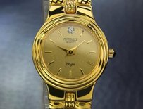 Other Tugaris Swiss Luxury Lady Eliza 24k Gold-plated Dress Watch C1990 Jxb6634