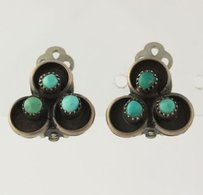 Other Turquoise Earrings - Native American Womens Sterling Silver Fashion