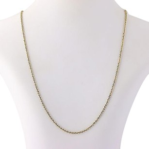 Twist Popcorn Chain Necklace - Sterling Silver Italy 24 Long 925 Lobster Clasp